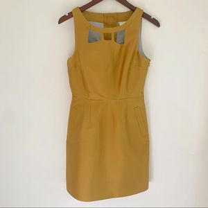 Anthro Maeve Silk Champagne Dress size 4